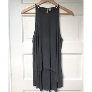 H&M High-neck Raw Hem Tank